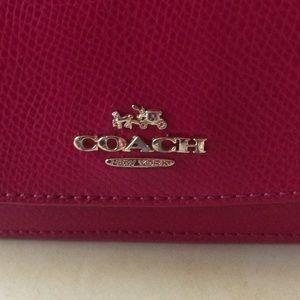 Coach Bags - Pink Coach Slim Envelope Wallet